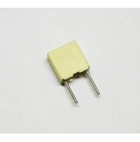 10 pezzi - Condensatore Poliestere 100nF (0,1uF) 100V 5% 2,5X6,5X7,2mm Passo 5mm