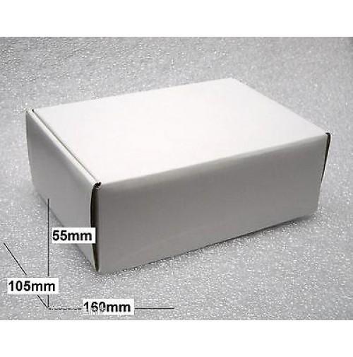 15 pezzi - Scatole in cartone colore Bianco dimensioni 160 x 105 x 55mm