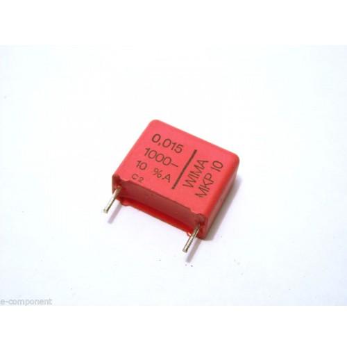 15nF 1000V K MKP Condensatore Poliestere 8x18x15mm passo 15mm - Marca: WIMA