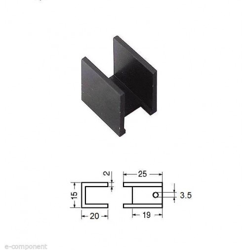2 pezzi Dissipatori in alluminio anodizzato nero per TO220 TO126 18°C/W