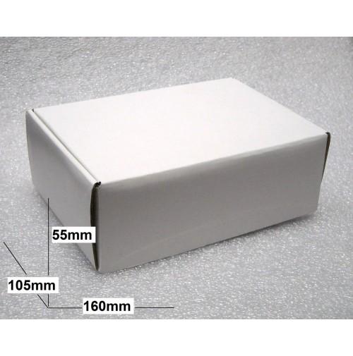 2 pezzi - Scatole in cartone colore Bianco dimensioni 160 x 105 x 55mm
