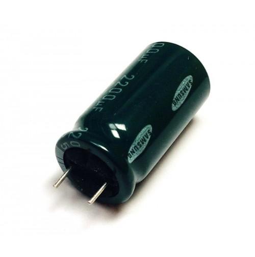 2200uF 35V Condensatore Elettrolitico Radiale 85°C 17x32mm Samsung