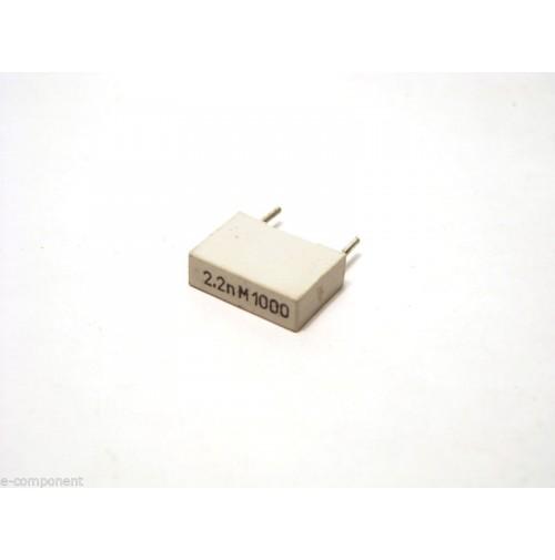 2,2nF 1000V M Condensatore Poliestere 4x13x10mm passo 10mm (2 Pezzi)