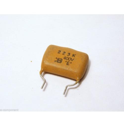 22nF 400V Condensatore Poliestere 5x16x16mm passo 7,5mm - Panasonic