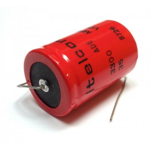 3300 MFD 35 VDC Condensatore Elettrolitico Assiale Ø26X42mm – ITELCOND