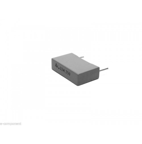 330nF 250V K Condensatore Poliestere 5x18x11mm passo 15mm - Arcotronics