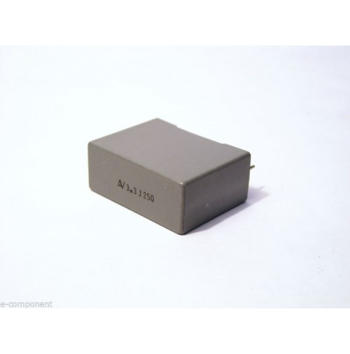 3,3uF 250V J 5% Condensatore Poliestere 11x27x20mm passo 22,5mm - Arcotronics