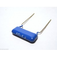 470nF 250V K MKT Condensatore Poliestere 5,5x25x16mm passo 22,5mm - Konek