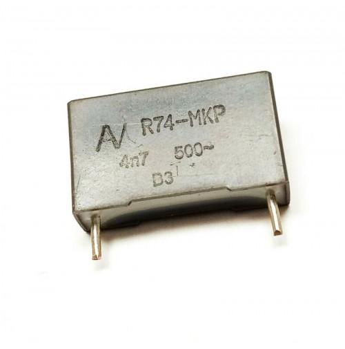 4,7nF (4700pF) 500V MKP Condensatore Poliestere 5x18x11mm passo 15mm Arcotronics