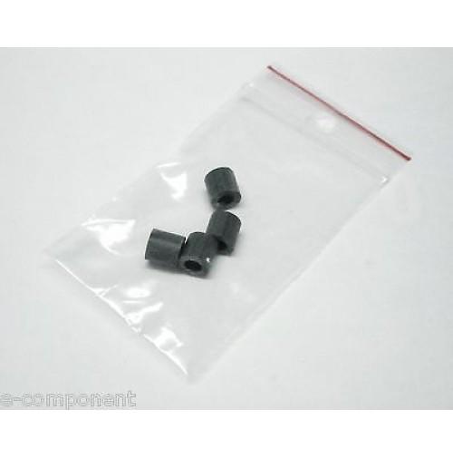 4x Distanziale cilindrico PVC Grigio altezza 6.4mm / Diametro 6.4mm / foro 3.7mm