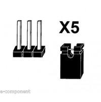 5 ponticelli Jumper di tipo corto con 5 connettori a pettine / strip line 3 poli