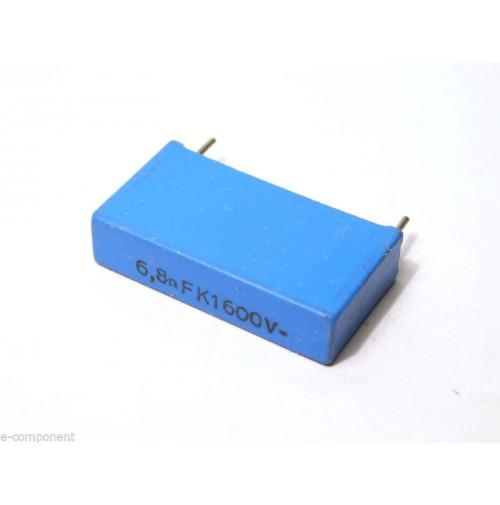 6,8nF 1600V K MKP Condensatore Poliestere 6x26,5x14,5mm passo 22,5mm - ERO
