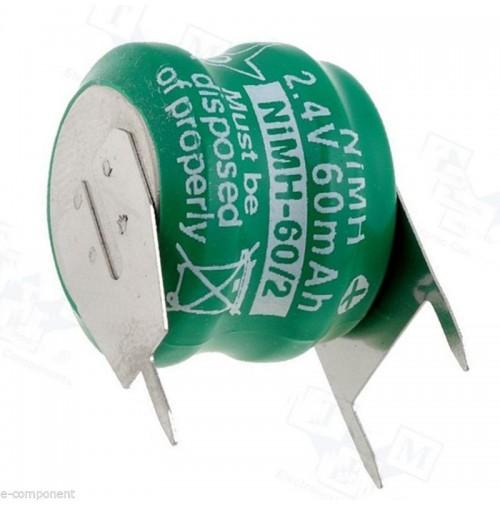 Backup Battery 2.4V NI-MH 60mA with terminals