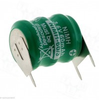 Backup Battery 3.6V NI-MH 60mA with terminals