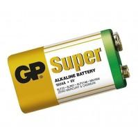 Batteria Alcalina Pila 9V 6LF22 6LR61 GP Super 1604A - 10 Pezzi