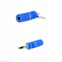 Boccola da da pannello 24 Amp. colore Blue 4mm