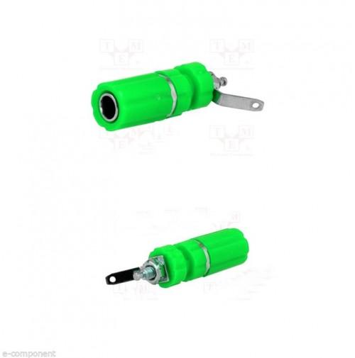 Boccola da da pannello 24 Amp. colore Verde 4mm