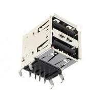 CONNETTORE USB DOPPIO 4+4 POLI DA CIRCUITO STAMPATO