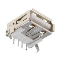CONNETTORE USB SINGOLO 4 POLI DA CIRCUITO STAMPATO
