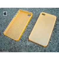 COVER CUSTODIA PER APPLE IPHONE 4 4S COLORE ARANCIO TRASPARENTE
