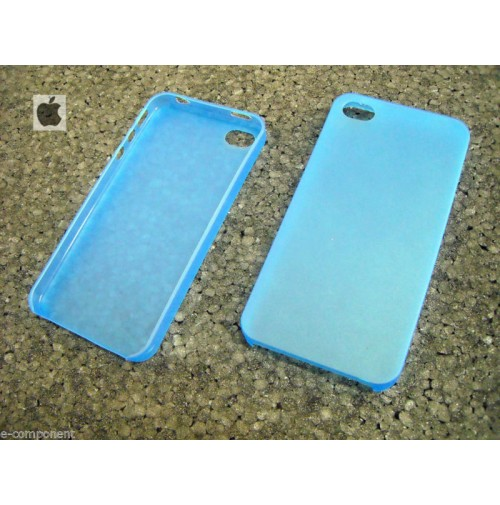 COVER CUSTODIA PER APPLE IPHONE 4 4S COLORE BLUE TRASPARENTE