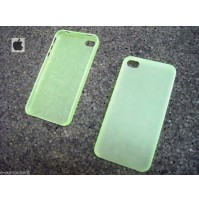 COVER CUSTODIA PER APPLE IPHONE 4 4S COLORE VERDE TRASPARENTE