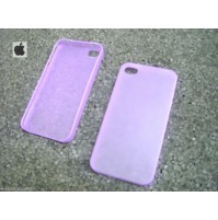 COVER CUSTODIA PER APPLE IPHONE 4 4S COLORE VIOLA TRASPARENTE