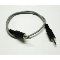 Cavo BF con 2 connettori Jack Maschio 2,5 Mono lunghezza del cavo 100cm (1 Mtr.)