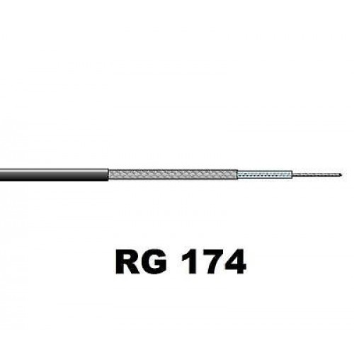 Cavo Coassiale 50 ohm RG174 lunghezza 20 cm (0,20 mt)