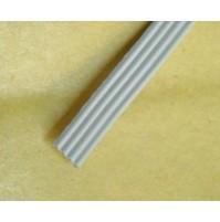 Cavo Piatto Flat Cable 4 poli lunghezza 1,00 Mt colore grigio Marca 3M
