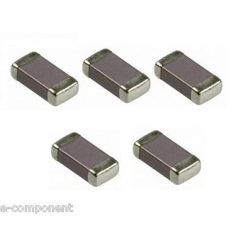 Ceramic monolithic capacitor 1nF 50V X7R SMD case: 1206 - 5 Pezzi/pcs