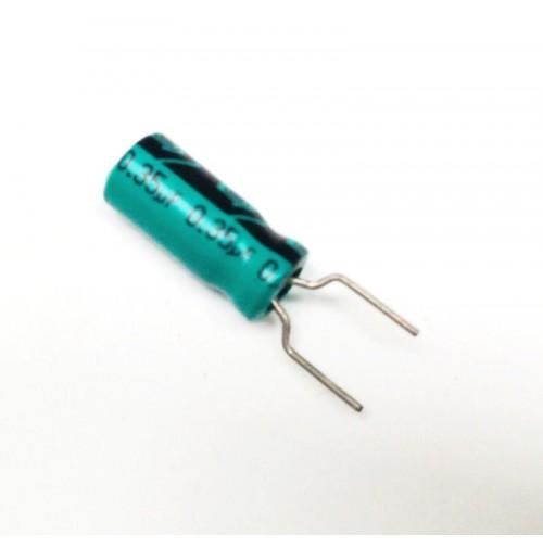 Condensatore Elettrolitico 0,35uF (350nF) 50V 85°C Radiale 5x11mm (2 pezzi)