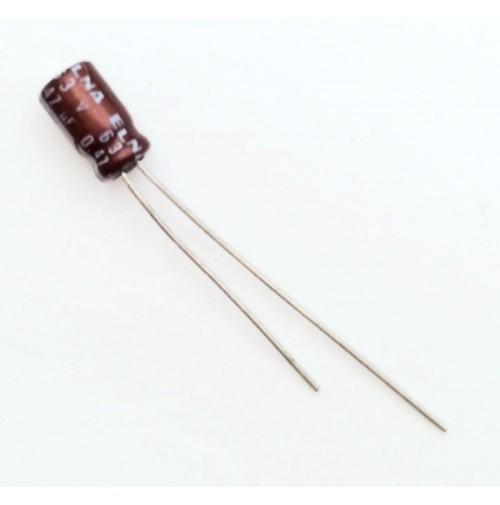 Condensatore Elettrolitico 0,47uF 63V 105°C Radiale 4x8mm ELNA (2 pezzi)