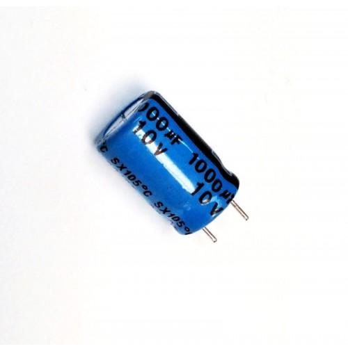 Condensatore Elettrolitico 1000uF 10V 105°C Radiale 10x16mm YAGEO