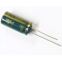 Condensatore Elettrolitico 1000uF 16V 105°C Radiale 10x20mm KEMET