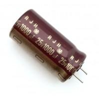 Condensatore Elettrolitico 1000uF 25V 105°C Radiale Ø13x26mm RJH ELNA