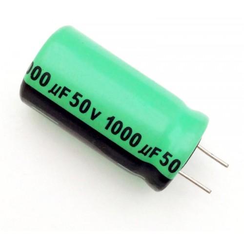 Condensatore Elettrolitico 1000uF 50V 85°C Radiale Ø13x25mm Lelon