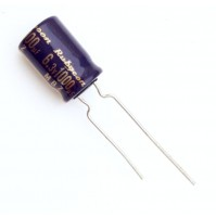 Condensatore Elettrolitico 1000uF 6,3V 105°C Radiale Ø8x12mm MBZ Rubycon