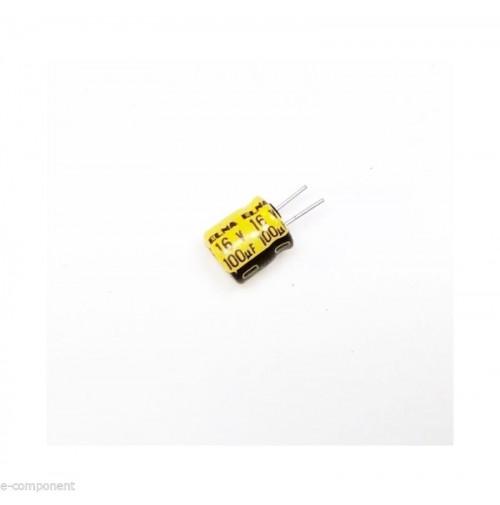 Condensatore Elettrolitico 100uF 16V 85°C Radiale 8x6mm ELNA performato - 4 Pz