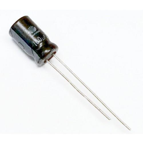 Condensatore Elettrolitico 100uF 25V 85°C Radiale 6x11mm Daewoo (2 Pezzi)