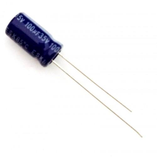Condensatore Elettrolitico 100uF 35V 85°C Radiale Ø6x12mm Arcotronics (4 pezzi)
