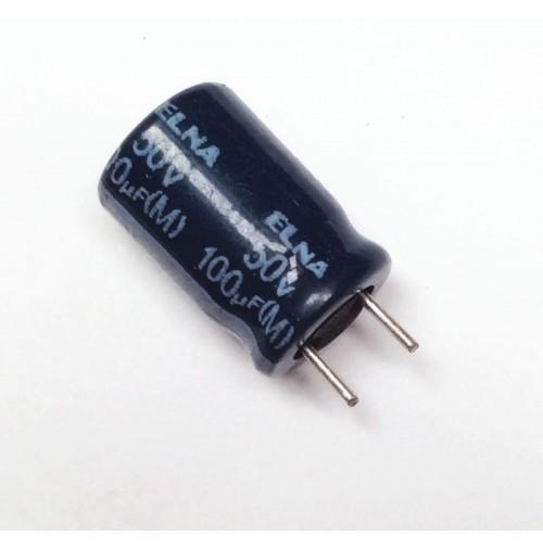 Condensatore Elettrolitico 100uF 50V 85°C Radiale 8x13mm - (2 pezzi)