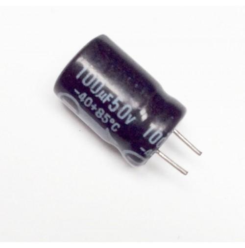Condensatore Elettrolitico 100uF 50V 85°C Radiale 8x13mm EKE (2 pezzi)