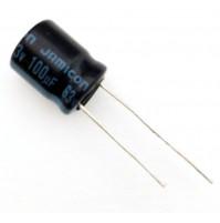 Condensatore Elettrolitico 100uF 63V 85°C Radiale Ø10x14mm Jamicon