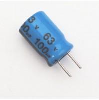 Condensatore Elettrolitico 100uF 63V 85°C Radiale 8x11mm JH (2 pezzi)