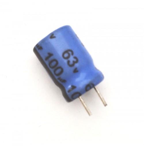 Condensatore Elettrolitico 100uF 63V 85°C Radiale 8x11mm JH (3 pezzi)