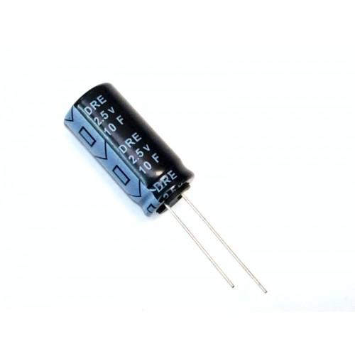 Condensatore Elettrolitico 10F 2,5V 85°C Radiale 13x27mm DRE SAMXOM