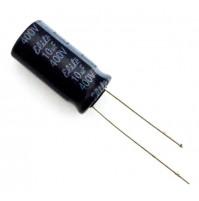 Condensatore Elettrolitico 10uF 400V 105°C Radiale Ø10x21mm Elite