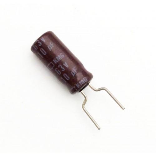 Condensatore Elettrolitico 10uF 63V 105°C Radiale 5x11mm Nichicon (2 pezzi)