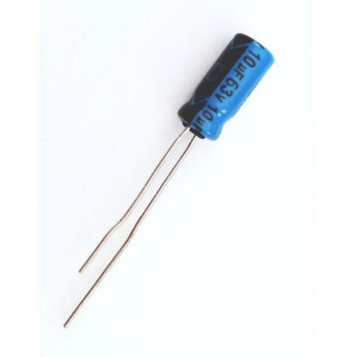 Condensatore Elettrolitico 10uF 63V 85°C Radiale 5x11mm LELON (5 pezzi)
